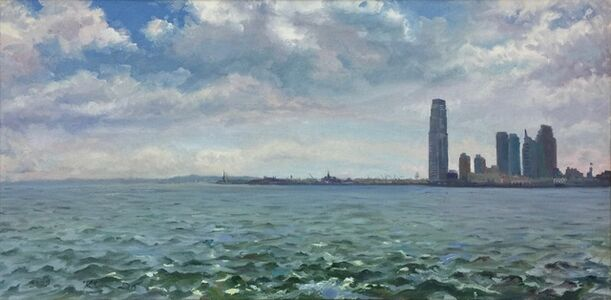 Kim Do, 'At the Mouth of the Hudson; Statue of Liberty, Ellis Island, and Exchange Place, Jersey City', 2009