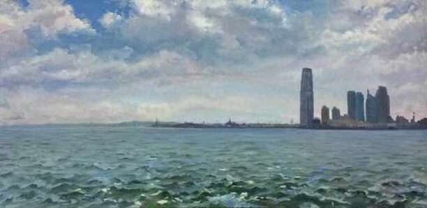 Kim Do, 'At the Mouth of the Hudson; Statue of Liberty, Ellis Island, and Exchange Place, Jersey City ', 2009