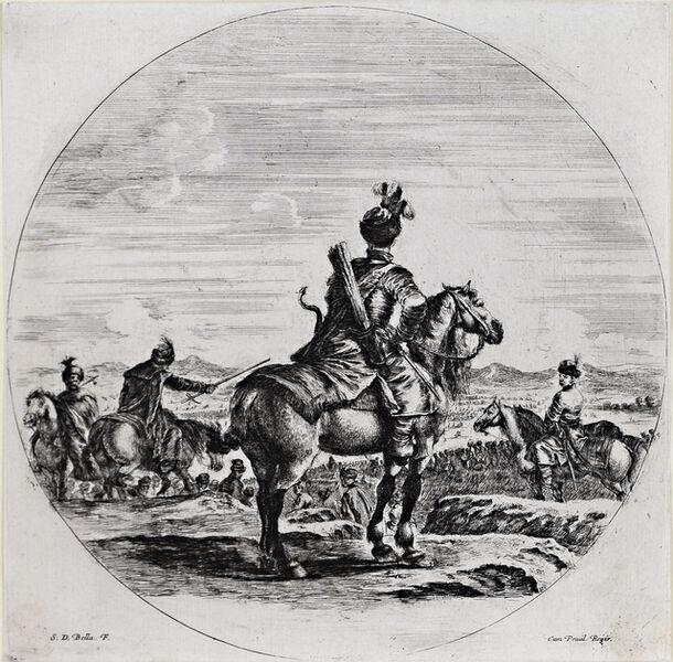 Stefano Della Bella, 'Polish Horseman Seen from the Back', 17th Century