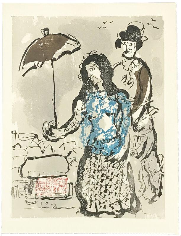 "Marc Chagall, 'VERS LA RIVE (""LES POEMES"")', 1968, Print, WOODCUT, Gallery Art"