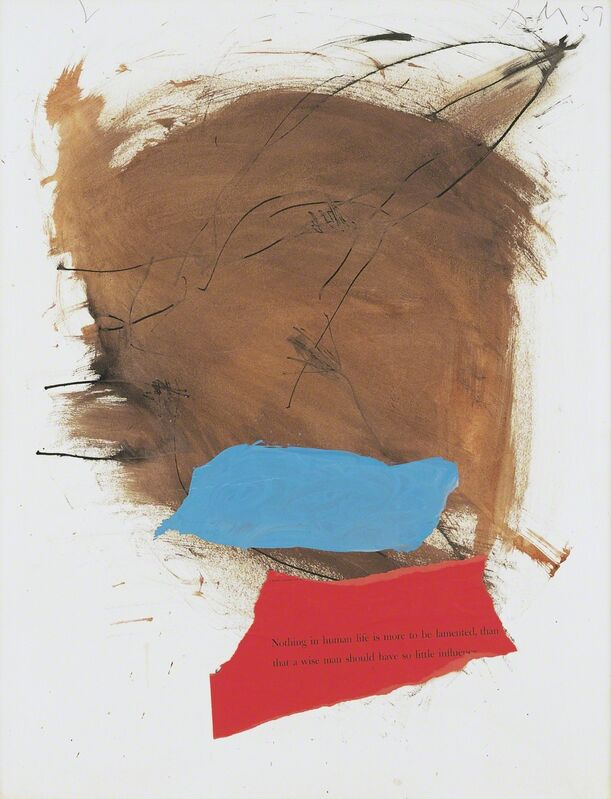 Robert Motherwell, 'Untitled', 1959, Mixed Media, Gouache, pasted papers, and ink on paperboard, Dedalus Foundation