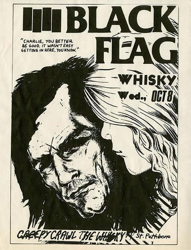 Raymond Pettibon, 'Rare Early Raymond Pettibon Punk Flyer', 1980, Posters, Offset-printed, Lot 180