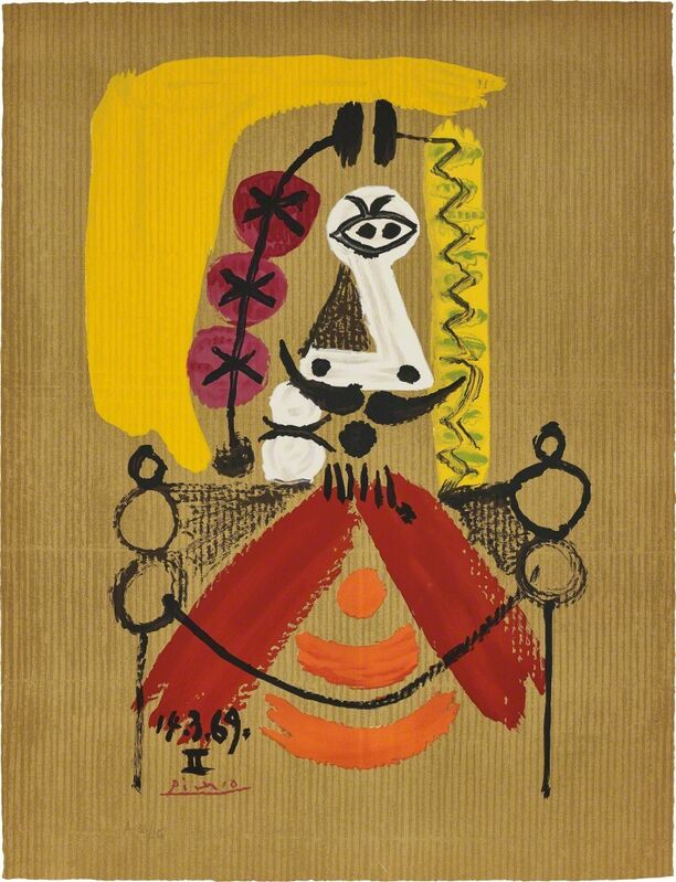 Pablo Picasso, 'Portrait imaginaire (Imaginary Portraits): one plate', 1969, Print, Offset lithograph in colours, on Arches paper, the full sheet., Phillips