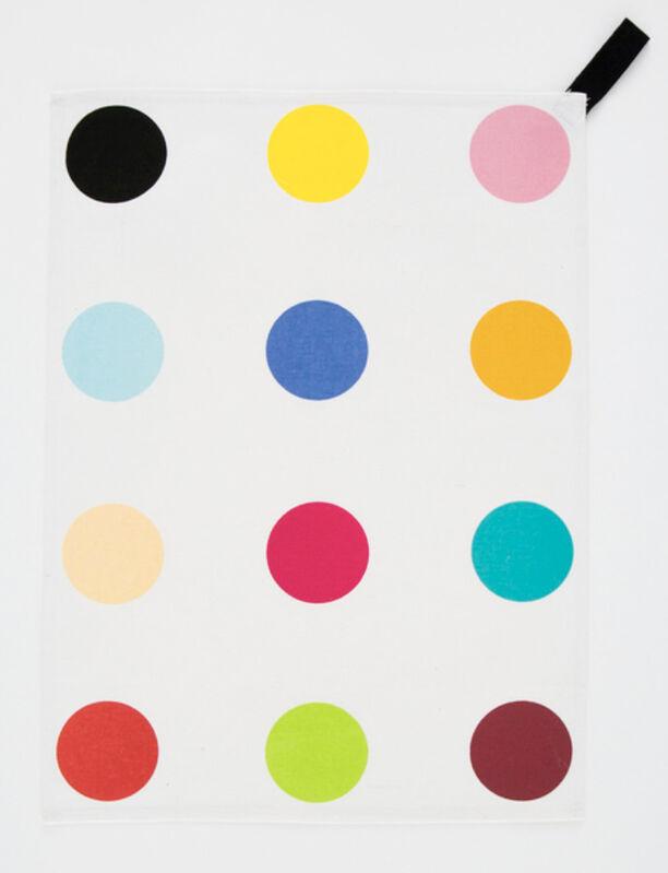 Damien Hirst, 'Spot Tea Towel', ca. 2010, Textile Arts, Multi-color silkscreen on cotton, Gallery 52