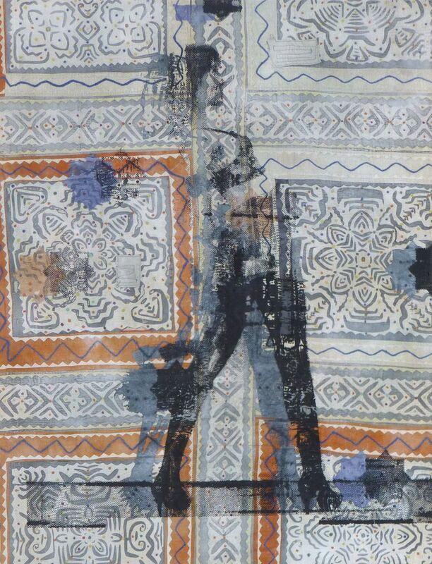 Shezad Dawood, 'Annabel Applique', 2012, Painting, Acrylic on vintage textile, Paradise Row