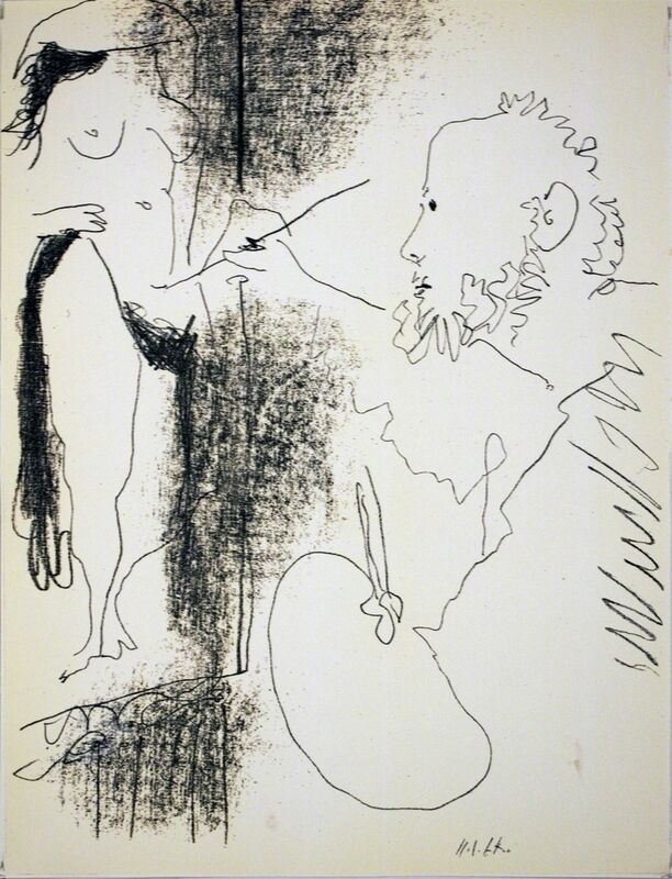 Pablo Picasso, 'Painter and Model', (Date unknown), Posters, Offset Lithograph, ArtWise