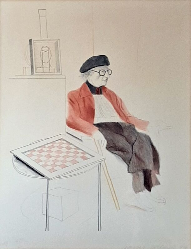 David Hockney, 'Man Ray, from: Homage to Man Ray', 1974, Print, Lithograph in colors on Arches paper, Artsy x Capsule Auctions