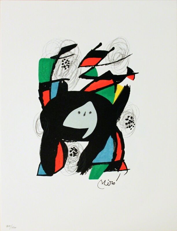 Joan Miró, 'Untitled from La Melodie Acide XII', 1980, Ephemera or Merchandise, Stone Lithograph, ArtWise