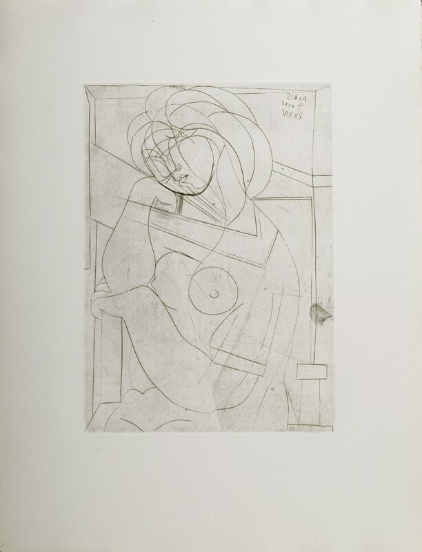 Pablo Picasso, 'Femme Nue Assise, La Tete Appuyee sur la Main', 1934, Print, Engraving on paper, Odon Wagner Gallery