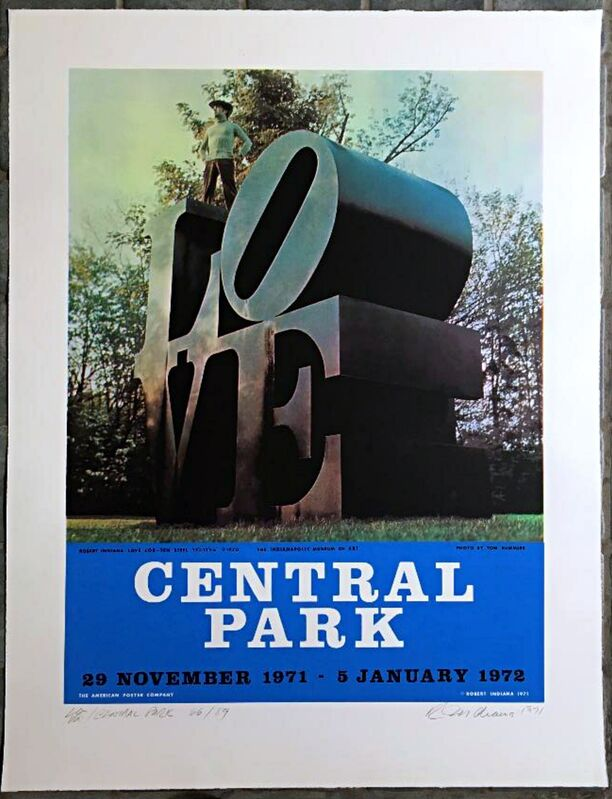 Robert Indiana, 'LOVE in Central Park, New York', 1971, Print, Color lithograph on wove paper. Pencil signed, dated and numbered with LOVE drawing/flourish. Unframed, Alpha 137 Gallery
