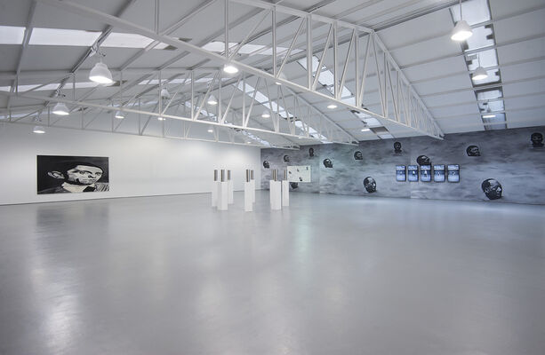 The Longer You Can Look Back, The Farther You Can Look Forward, installation view