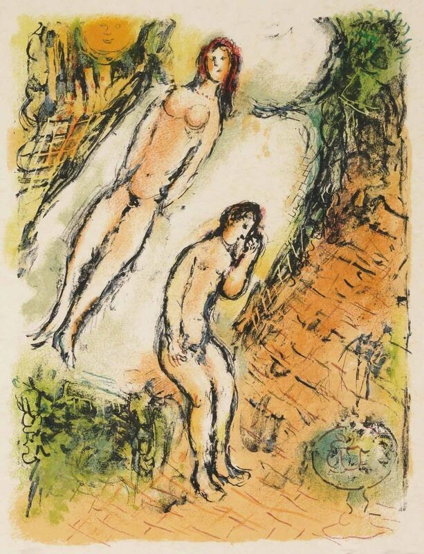 Marc Chagall, 'The Lamentations of Ulysses (M.763, L'Odyssée)', 1974, Print, Lithograph, Martin Lawrence Galleries
