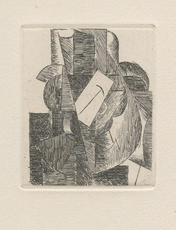 Pablo Picasso, 'L'homme au chapeau', 1914, Print, Original etching on wove paper, Samhart Gallery