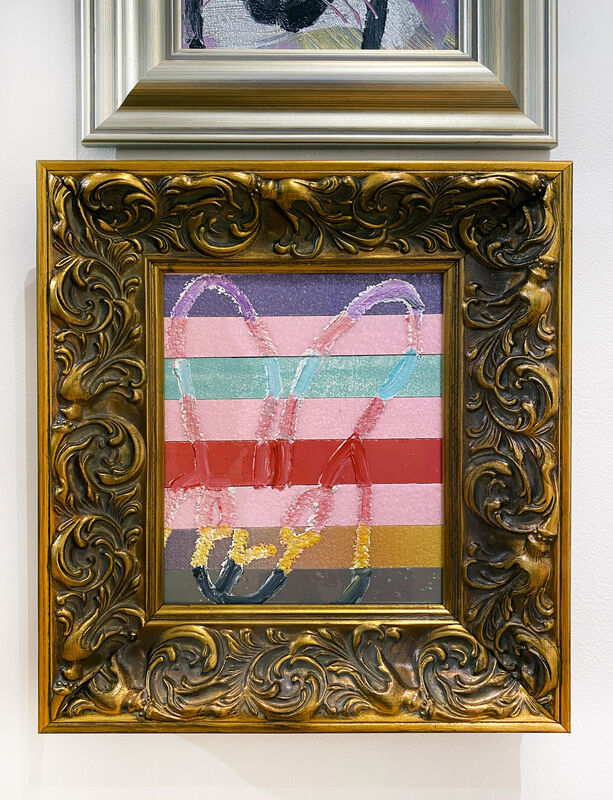 Hunt Slonem, 'V2 Mananitas', 2021, Painting, Oil & Acrylic w/ Diamond Dust on Wood, DTR Modern Galleries
