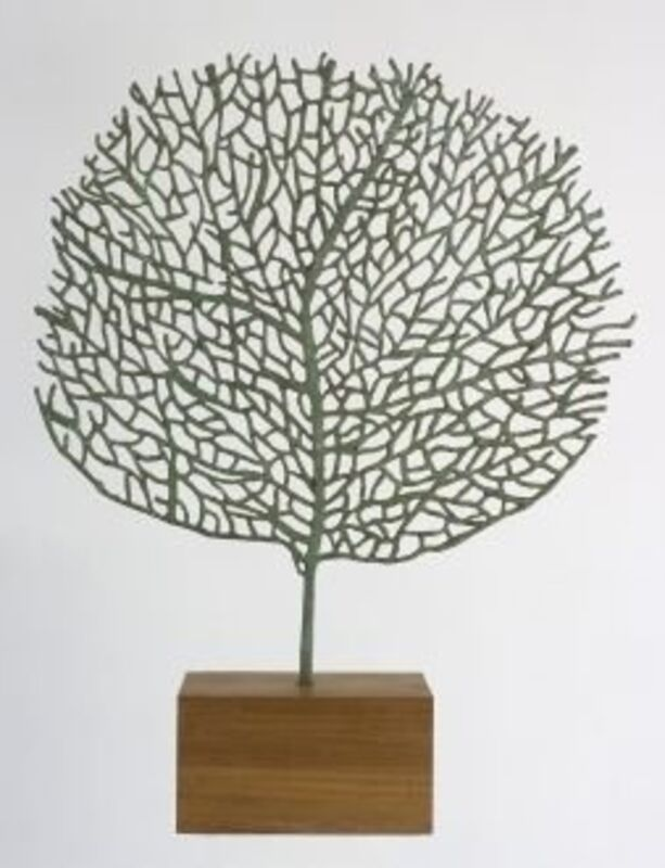 Abigail McLellan, 'Large Seafan', 2008, Sculpture, Bronze on oak plinth, Rebecca Hossack Art Gallery