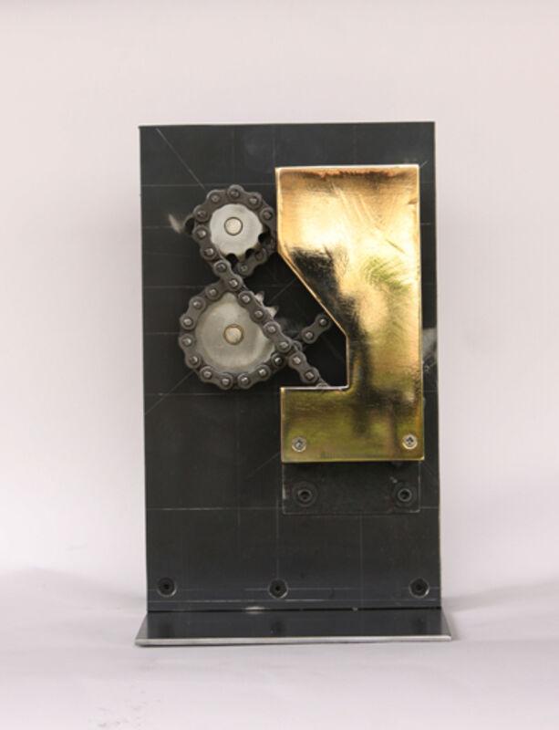Satoru Tamura, '& Machine #5 ', 2015, Steel, chains, bearings, motor, etc., Tezukayama Gallery