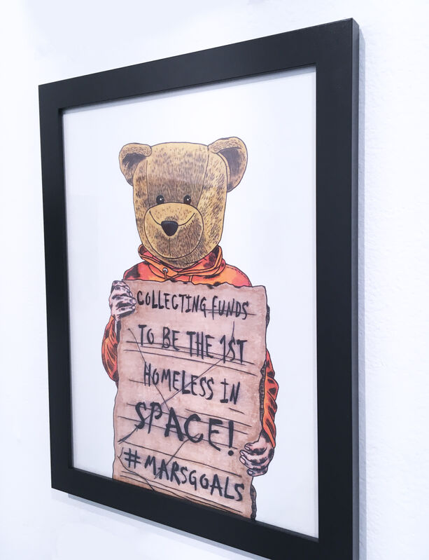 Sean 9 Lugo, 'Mars Goals', 2019, Drawing, Collage or other Work on Paper, Marker and ink on Bristol paper, framed, Deep Space Gallery