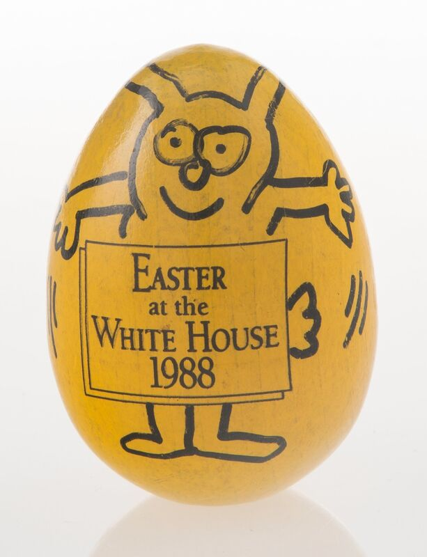 Keith Haring, 'Easter at the White House 1988', 1988, Painting, Ink and acrylic on wood, Heritage Auctions