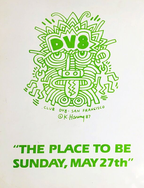 Keith Haring, 'Keith Haring club DV8 (set of 2 announcements)', ca. 1987, Ephemera or Merchandise, Offset printed, Lot 180