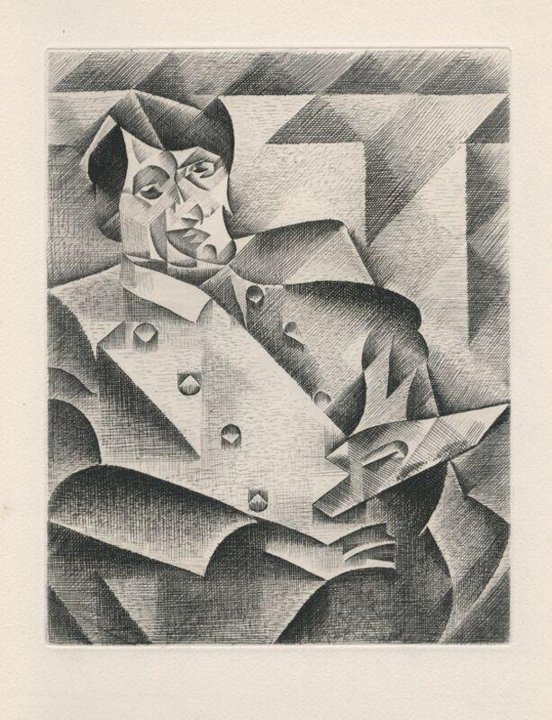 Juan Gris, 'Portrait de Picasso', 1947, Print, Etching & drypoint on Lana paper, Samhart Gallery
