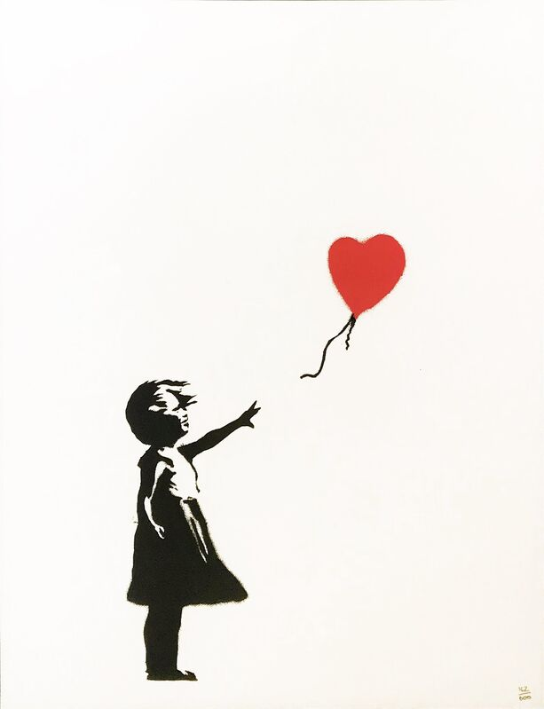 Banksy, 'Girl With Balloon (unsigned)', 2004, Print, Screen Print, ArtLife Gallery