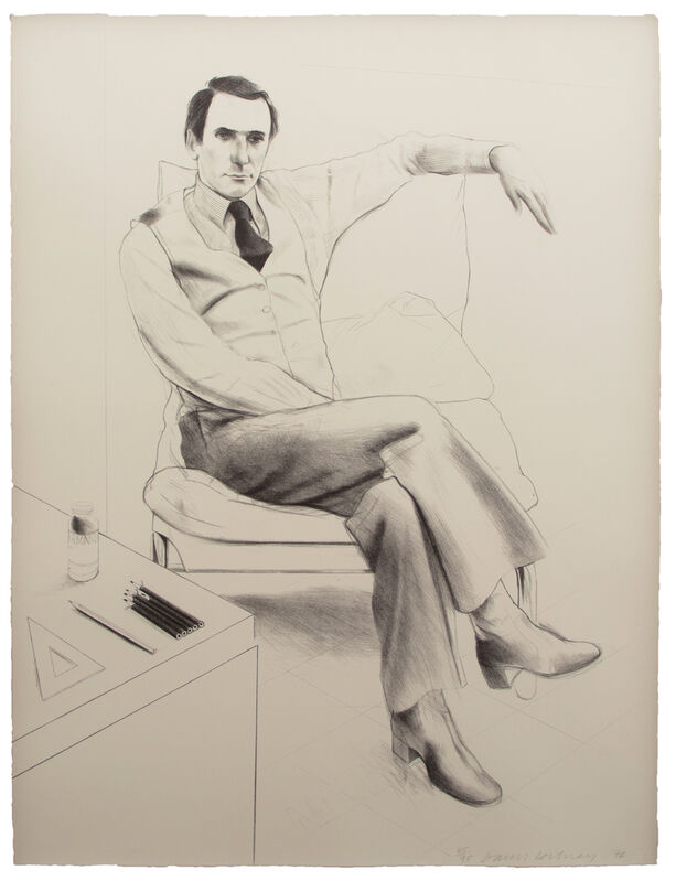 David Hockney, 'Nicholas Wilder', 1976, Print, 1 color lithograph, Gemini G.E.L.