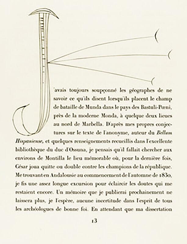 Pablo Picasso, 'Monogram J (Plate II)', 1949, Print, Original etching on Montval wove paper, Georgetown Frame Shoppe