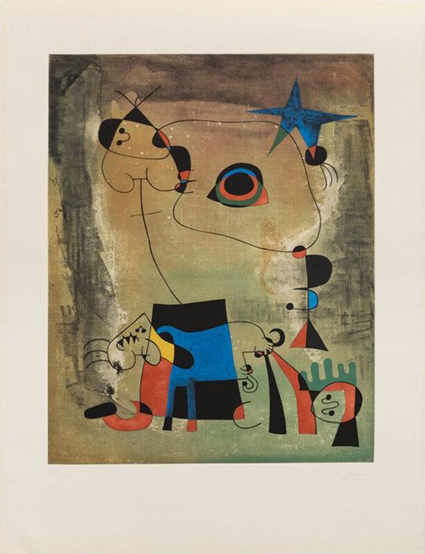 Joan Miró, 'Le Chien Bleu', 1959, Print, Color etching and aquatint, Galerie Céline Moine & LGFA