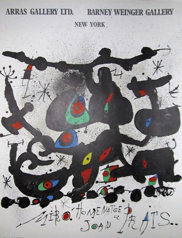 Joan Miró, 'Homenatge a Joan Prats Exhibition', 1971, Ephemera or Merchandise, Lithograph Poster on Thin Velin, RoGallery