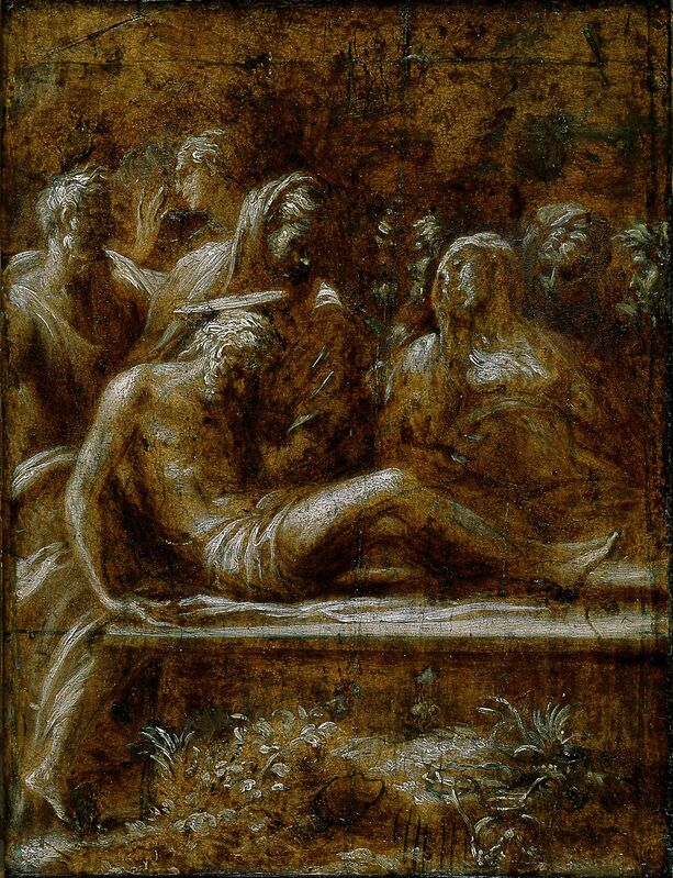 Francesco Mazzola, called Parmigianino, 'The Entombment of Christ', 1525, Painting, Oil on wood panel, Blanton Museum of Art