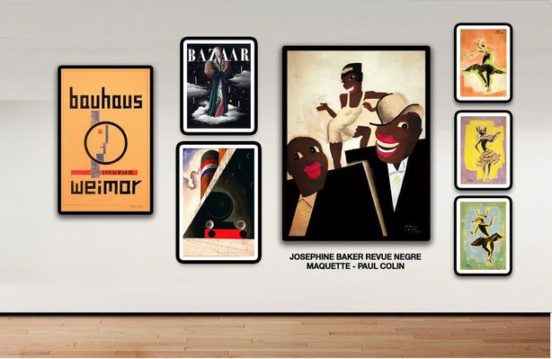 From Brush to Brand - Original Maquettes & Their Posters, installation view