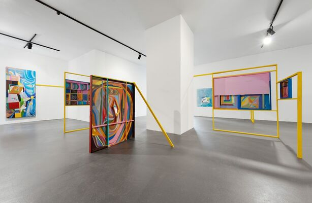 Chris Johanson: Imperfect Reality with Figures and Challenging Abstraction, installation view
