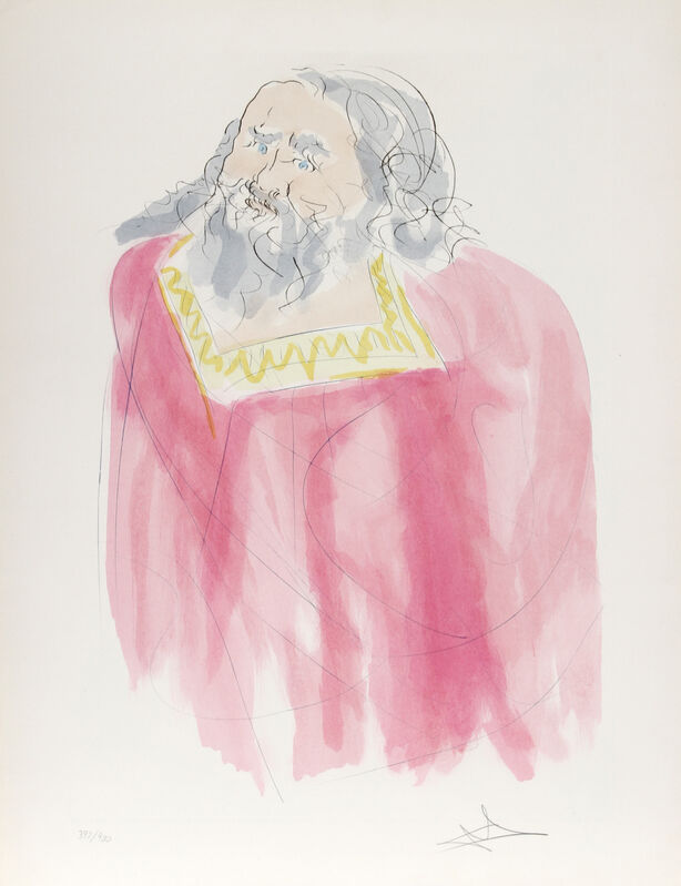 Salvador Dalí, 'King Saul', 1975, Print, Original Intaglio Etching and Color Pochoir on Arches Paper, RoGallery