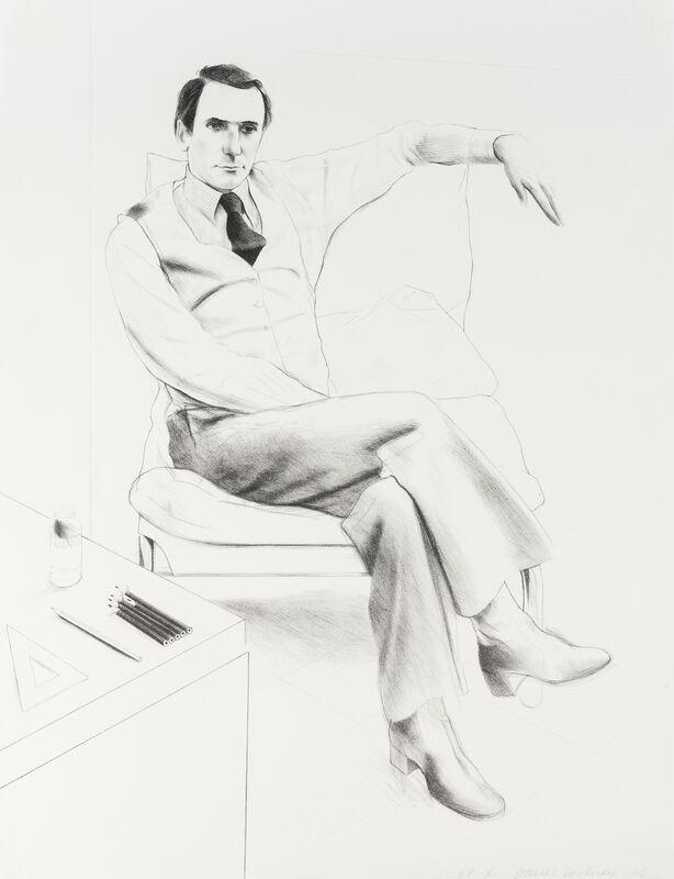 David Hockney, 'Nicholas Wilder (Tokyo 168)', 1976, Print, Lithograph, Forum Auctions