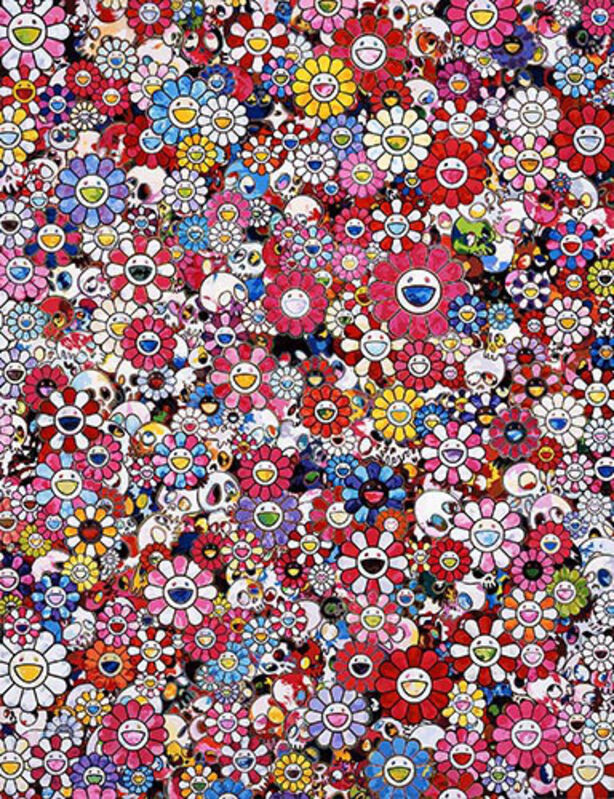 Takashi Murakami, 'Dazzling Circus: Embrace Peace and Darkness within thy Heart', 2016, Print, Offset print, Vogtle Contemporary
