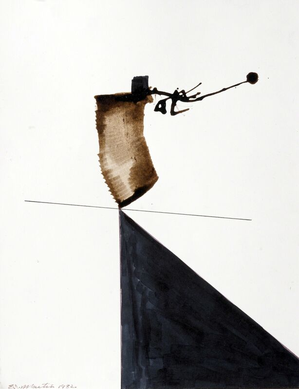 Eugene James Martin, 'Untitled', 1982, Drawing, Collage or other Work on Paper, Bamboo reed pen and ink drawing, Eugene Martin Estate