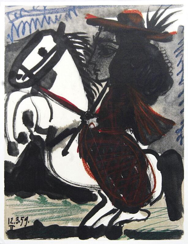 Pablo Picasso, 'Cavalier', 1959, Ephemera or Merchandise, Stone Lithograph, ArtWise