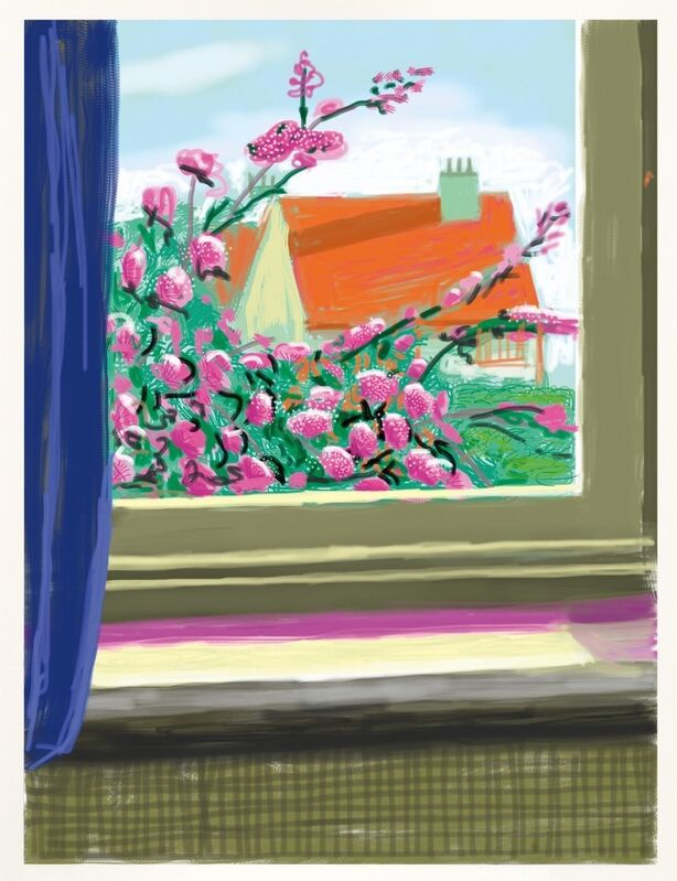 David Hockney, 'My Window. Art Edition (No. 751–1,000), iPad drawing 'No. 778', 17th April 2011', 2019, Print, 8-colour inkjet print on cotton-fiber archival paper and book, Lougher Contemporary