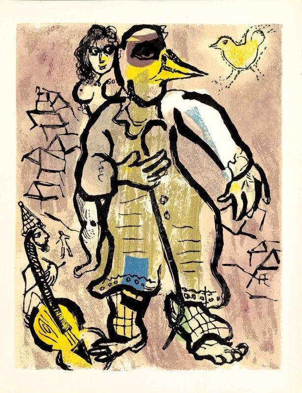 Marc Chagall, 'Je me Suis Éloigné (Poèmes, #20)', 1968, Print, Woodcut, Martin Lawrence Galleries
