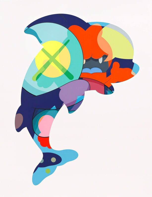 KAWS, 'Piranhas When You're Sleeping', 2016, Print, Screenprint on Saunders Waterford 425 gmHP, Friends Seminary Benefit Auction