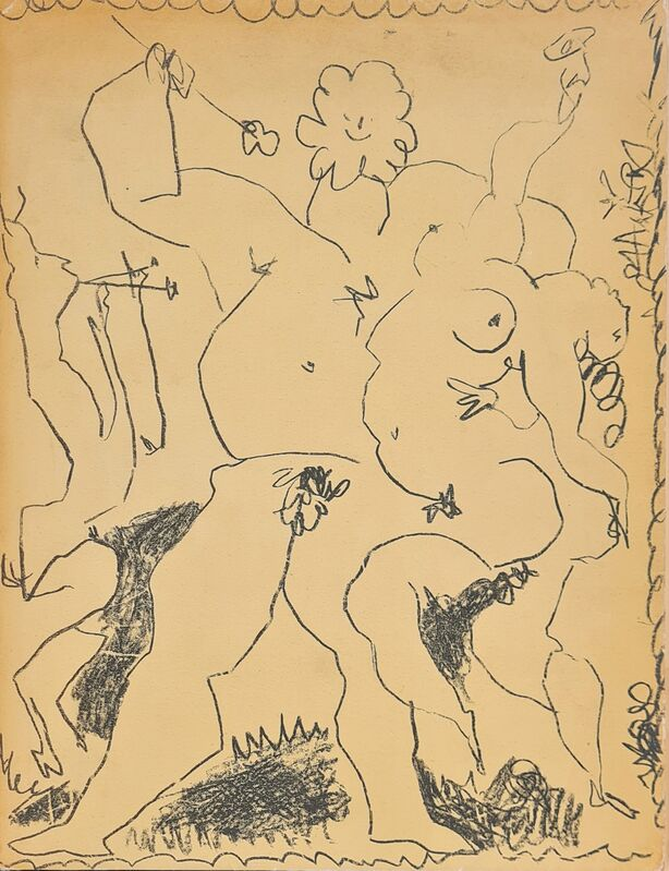 Pablo Picasso, 'Bacchanale', 1956, Print, Original lithograph on wove paper, Samhart Gallery