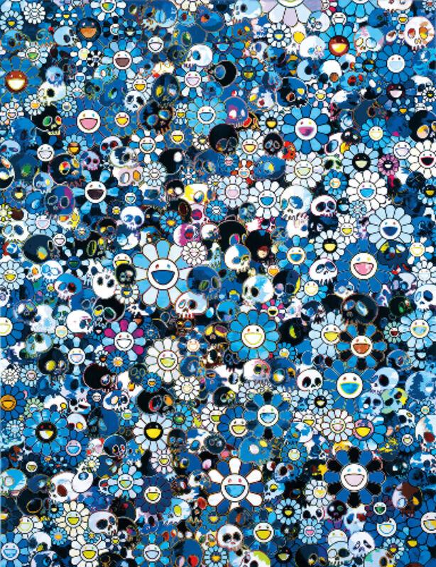 Takashi Murakami, 'Blue Flower & Skulls', 2012, Print, Offset Lithograph, Marcel Katz Art