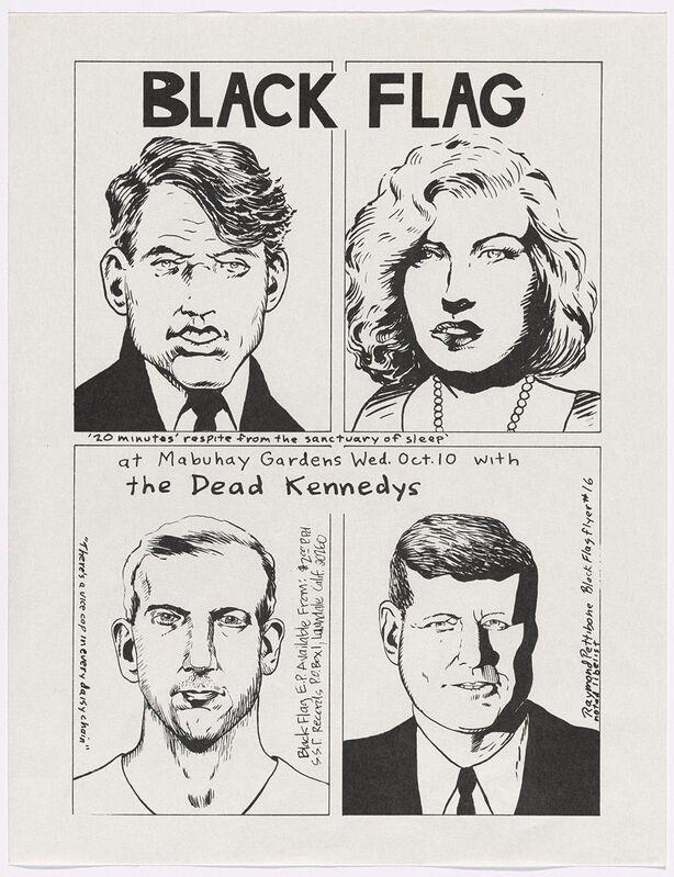 Raymond Pettibon, 'Raymond Pettibon Black Flag at Mabuhay Gardens', 1979, Posters, Offset printed handbill, Lot 180