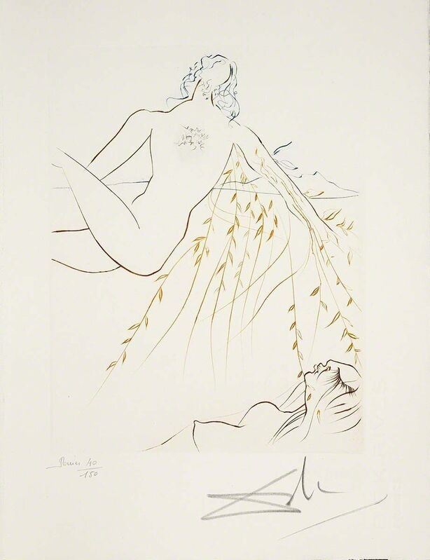 Salvador Dalí, 'The Amorous Sleep (Le Paradis Perdu, Plate F)', 1974, Print, Hand-signed engraving, Martin Lawrence Galleries