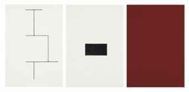 Blinky Palermo, 'Mappe zur Wandmalerei, Hamburger Kunstverein (Solution to wall painting)', 1973
