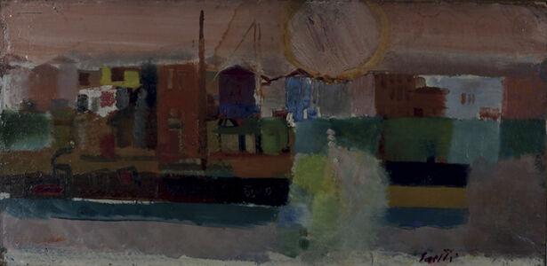 Bruno Saetti, 'Paesaggio Con Sole', 1954
