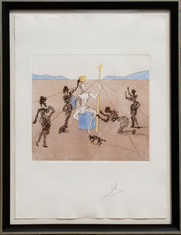 Salvador Dalí, 'The Golden Helmet of Mandrino', 1981, Print, Etching on Arches, RoGallery