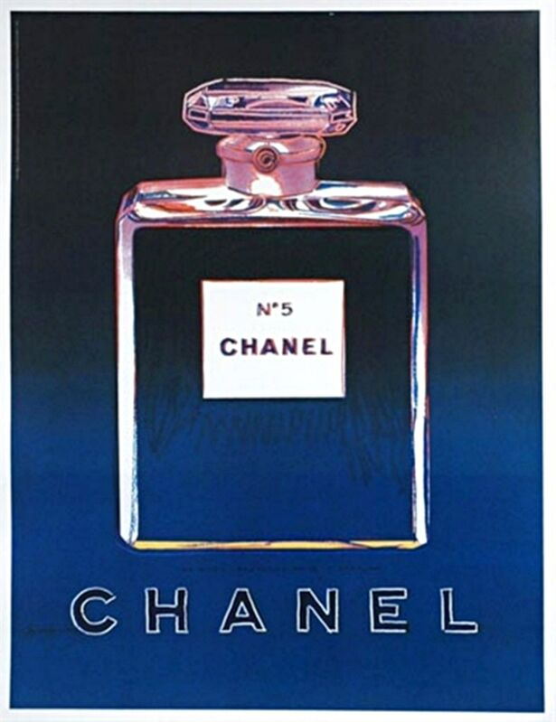 Andy Warhol, 'Chanel No. 5 (Blue)', 1997, Print, Offset Lithograph on Thin Linen Canvas; Plate Signed., Alpha 137 Gallery Gallery Auction