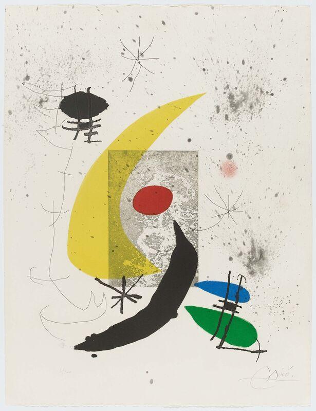Joan Miró, 'Pour Paul Éluard', 1973, Print, Etching on colour aquatint on Arches (watermark), Van Ham