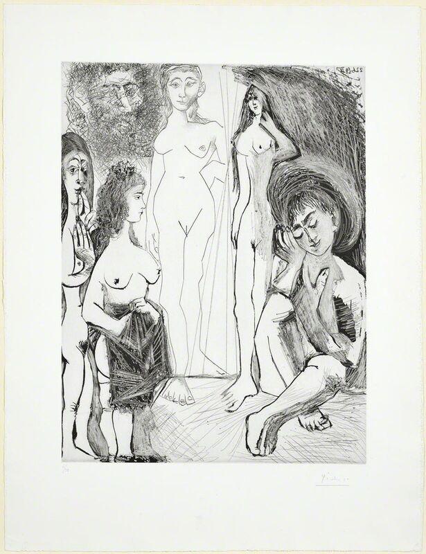 Pablo Picasso, 'Jeune garçon rêvant: Les femmes!', 1968, Print, Drypoint and aquatint, Koller Auctions